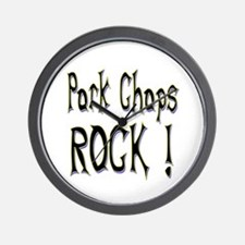 Pork Chops Rock ! Wall Clock