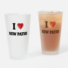 I Love New Paths Drinking Glass