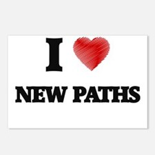 I Love New Paths Postcards (Package of 8)
