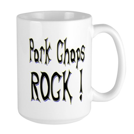 Pork Chops Rock ! Large Mug