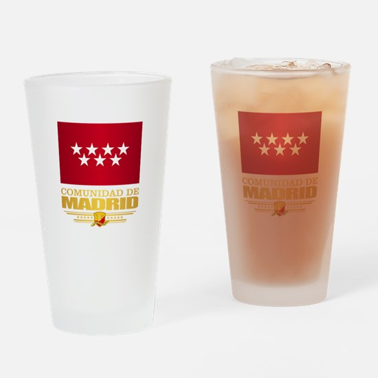 Madrid Flag Drinking Glass