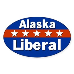 Alaska Liberal Oval Bumper Decal