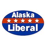 Alaska Liberal Oval Bumper Sticker