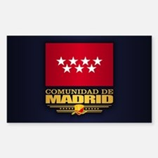 Madrid Flag Decal