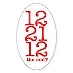 2012 End Oval Sticker