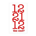 2012 End Rectangle Sticker