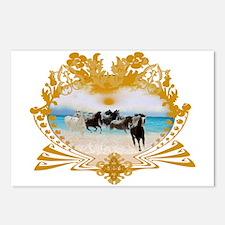 Wild Ponies Vintage Surf Postcards (Package of 8)