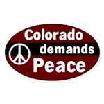 Colorado Demands Peace Oval Sticker