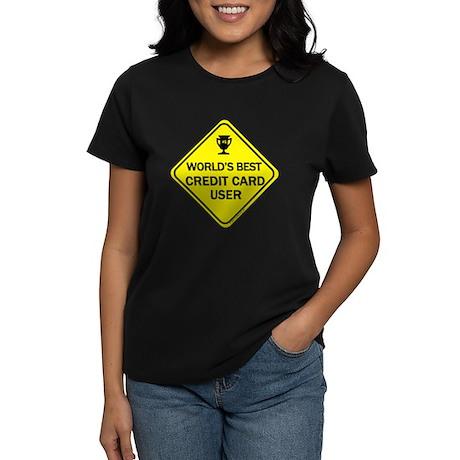 Credit Card User Women's Dark T-Shirt