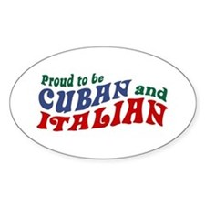 Cuban Italian Oval Decal