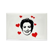 Hearts for Hillary Rectangle Magnet
