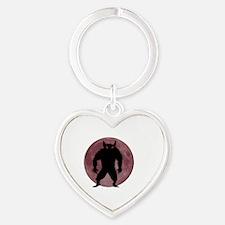 Cute Werewolf Heart Keychain