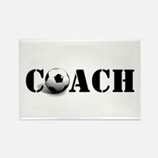 coach (soccer) Rectangle Magnet