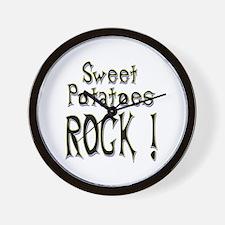 Sweet Potatoes Rock ! Wall Clock