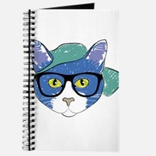 Funny Hipster Cat Journal