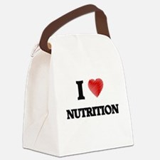I Love Nutrition Canvas Lunch Bag