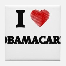 I Love Obamacare Tile Coaster