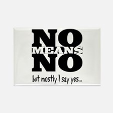 NO Means...but yes Rectangle Magnet