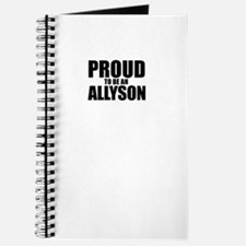 Proud to be ALLYSON Journal