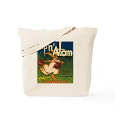 Vintage Up N Atom Crate Label Tote Bag
