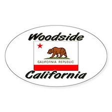 Woodside California Oval Decal