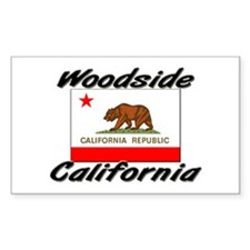 Woodside California Rectangle Decal