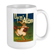 Vintage Up N Atom Crate Label Mug