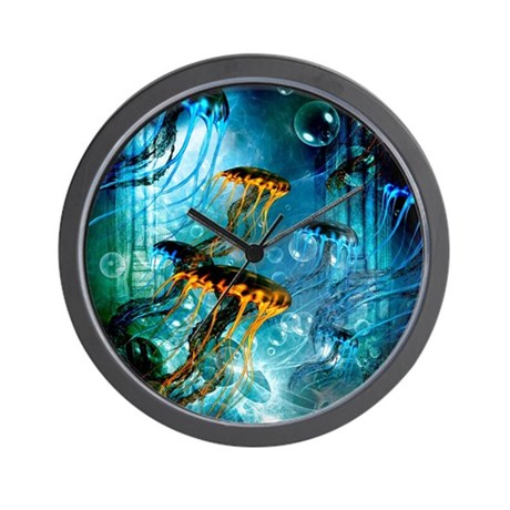 Awesome Jellyfish Wall Clock By Fantasyworld8