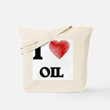 I Love Oil Tote Bag