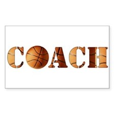 coach (basketball) Rectangle Decal