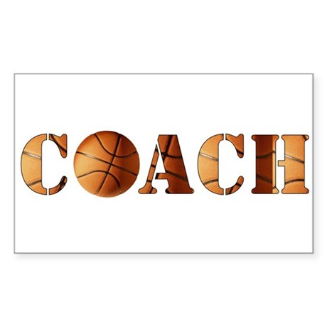 coach (basketball) Rectangle Sticker