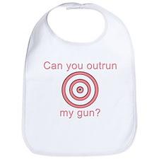 Outrun My Gun Bib