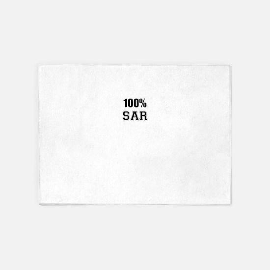 100% SAR 5'x7'Area Rug