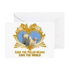 Save The Polar Bears Greeting Cards (Pk of 20)