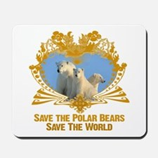 Save The Polar Bears Mousepad