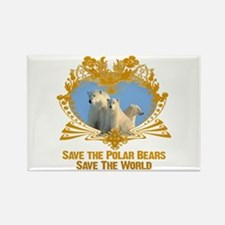 Save The Polar Bears Rectangle Magnet
