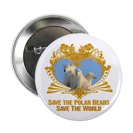 "Save The Polar Bears 2.25"" Button (10 pack)"