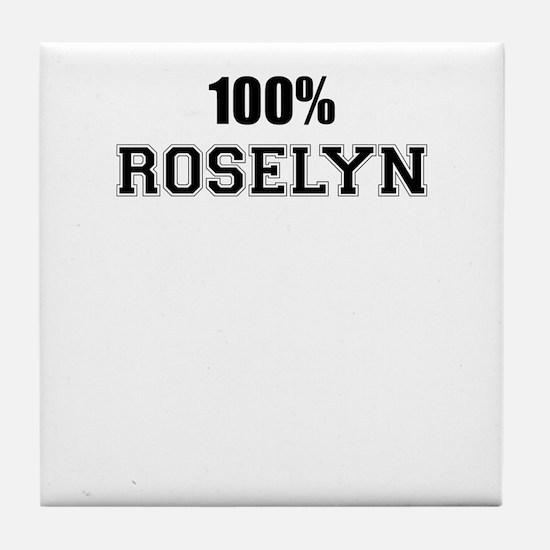 100% ROSELYN Tile Coaster