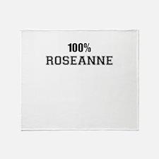 100% ROSEANNE Throw Blanket