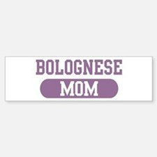 Bolognese Mom Bumper Car Car Sticker