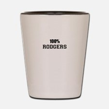 100% RODGERS Shot Glass