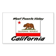 West Puente Valley California Sticker (Rectangular