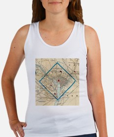 Vintage Map of Washington D.C. Battlefiel Tank Top