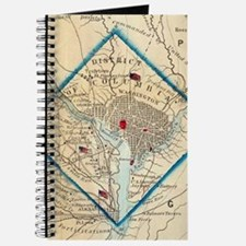 Vintage Map of Washington D.C. Battlefield Journal