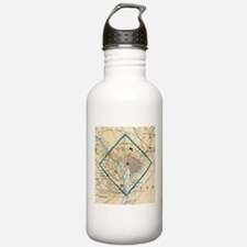Vintage Map of Washing Water Bottle