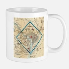 Vintage Map of Washington D.C. Battlefields ( Mugs