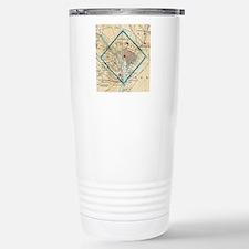 Vintage Map of Washingt Travel Mug