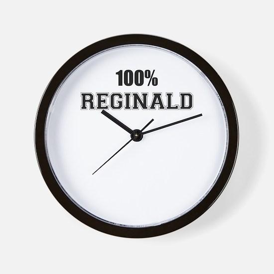 100% REGINALD Wall Clock