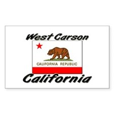 West Carson California Rectangle Decal