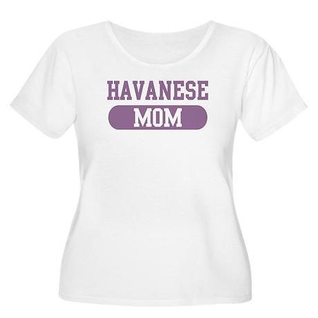 Havanese Mom Women's Plus Size Scoop Neck T-Shirt